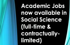 Jobs in SOSC news