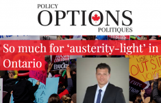 "Prof. Carlo Fanelli's article ""So much for 'austerity-light' in Ontario"" in Policy Options."