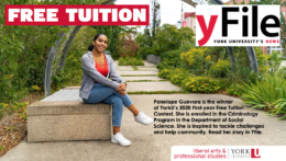 First-year Free Tuition Contest winner Penelope Guevara